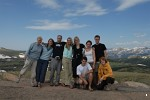 Group photo at Gore Range, Rocky Mountain National Park