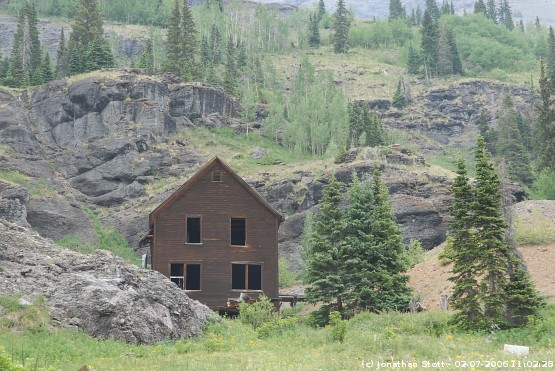 Mine Buildings in Yankee Boy Basin, Colorado