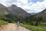 Hike in Yankee Boy Basin, Colorado