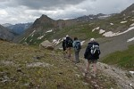 Hiking down from Wright Lake, Yankee Boy Basin, Colorado