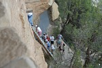 Access to Balcony House is quite tricky! Mesa Verde National Park, Colorado