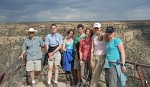 Group photo at Balcony House Overlook, Mesa Verde National Park, Colorado