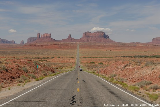 Looking towards Monument Valley along Highway 163, Utah