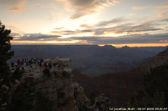Sunrise at Mather Point, Grand Canyon National Park, Arizona