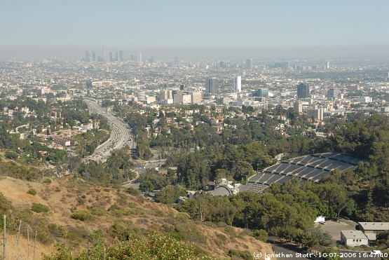 View towards downtown Los Angeles, California