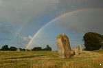 Avebury Outer Circle with double rainbow