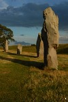 Avebury Outer Circle at Sunset
