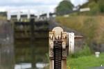Caen Hill Locks on the Kennet and Avon Canal near Devizes, Wiltshire