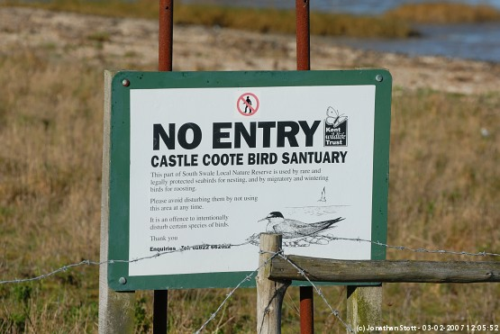 Sign at Castle Coote Bird Sanctuary