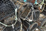 Lobster pots at Clovelly Harbour, Devon