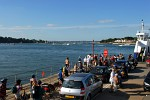 Sandbanks Ferry, looking towards Poole Harbour and Brownsea Island